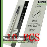 Lot Of 10 Jinhao Roller Ball Pen Refills Screw Type Black Ink
