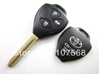 Free shipping 3 BUTTON Remote Blank Key Keyless Entry Shell Case For Toyota RAV4 Prado Camry 10pcs/lot