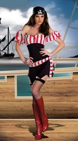 Pirate female models temptation role playing sex costumes dress 8698-2 , free shipping