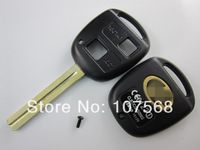 Free shipping replacement key shell for  Lexus2 button remote key blank with TOY48 short blade;