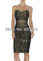 strapless dress spandex cheap brand bandage dress geometric print dress 2014