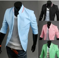 Hot-selling male slim three quarter sleeve blazer x25