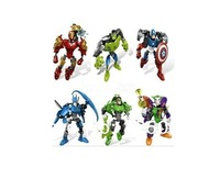 Decool superhero avengers league 6001-6006, 6 PCS/lot, initiation toy DIY puzzle toys for children, not the original box