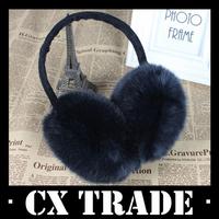 Free shipping New winter warm faux rabbit fur earmuff girl earflap women ear muff gift #6034