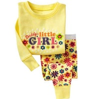 Hot selling ! New cotton baby boy/girl pajama , long sleeve sleepwear  6sets/lot