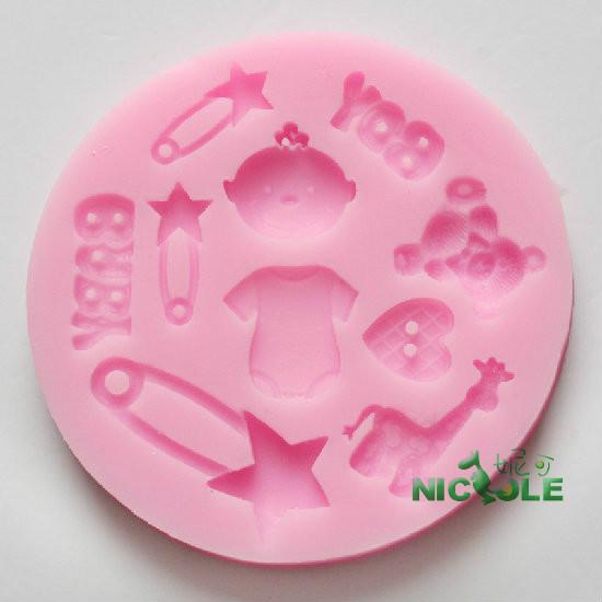 Frete grátis venda quente DIY 2014 novo produto , molde de silicone bebê fondant , ferramentas de decoração do bolo , molde de sabão artesanal(China (Mainland))