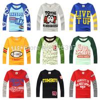 2014 children's spring clothing male female child child long-sleeve T-shirt 100% cotton basic shirt  CC030A