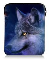 "9.7""cool wolf&skull  Unique Design Noble Sleeve Cover Soft Case Bag Portable Pad tablet  bag"