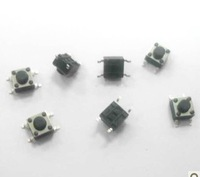 Free shipping 1000 PCS Tactile Push Button Switch Momentary Tact 6x6x6mm smd 4-pin DIP Through-Hole