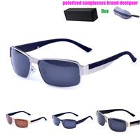 Sunglasses Men Polarized UV400 Brand Designer 2014 Sports Outdoor Sunglasses Aluminum Magnesium Frame With Box