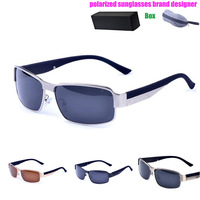 Sunglasses Men Polarized UV400 Brand Designer 2014 Sports Outdoor Sunglasses Aluminum Magnesium Frame With Box