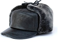 Quinquagenarian hat male autumn and winter hat thermal earmuffs winter fur hat thickening thermal outdoor old man hat ear