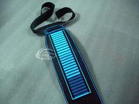 sound activated tie,EL panel, glowing blue tie, electro necktie,flashing DJ,party,have el wire around tie