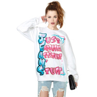 HOT SALE!2013 New Women loose Doodle letter print Long SLeeve Punk eagle printed Hoodies Sweatshirts Just sweaters Pullover Tops