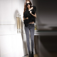 Uper Feet 2014 Eupropean pencil denim Grey color trousers low waistband sexy skinny denim jeans 970 new Model LADIES SEXY JEAN