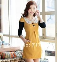 New 2014 Fashion Korean Slim Dress Free Shipping      q3225