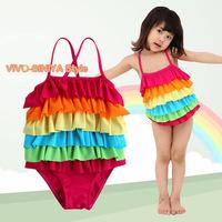 Закрытый купальник для девочек Unbranded + 80% + 20% SW252