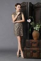 2014 formal dress married vintage fancy evening dress short qipao 6631