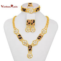 Free Shipping New Item True Horsehair Leopard Costume Jewelry Set For Bridal Party /Women  Fashion jewelry , Made in China A327