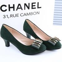 2014 spring and summer fashion women's shoes low thick heel elegant casual shoes ol shoes work shoes