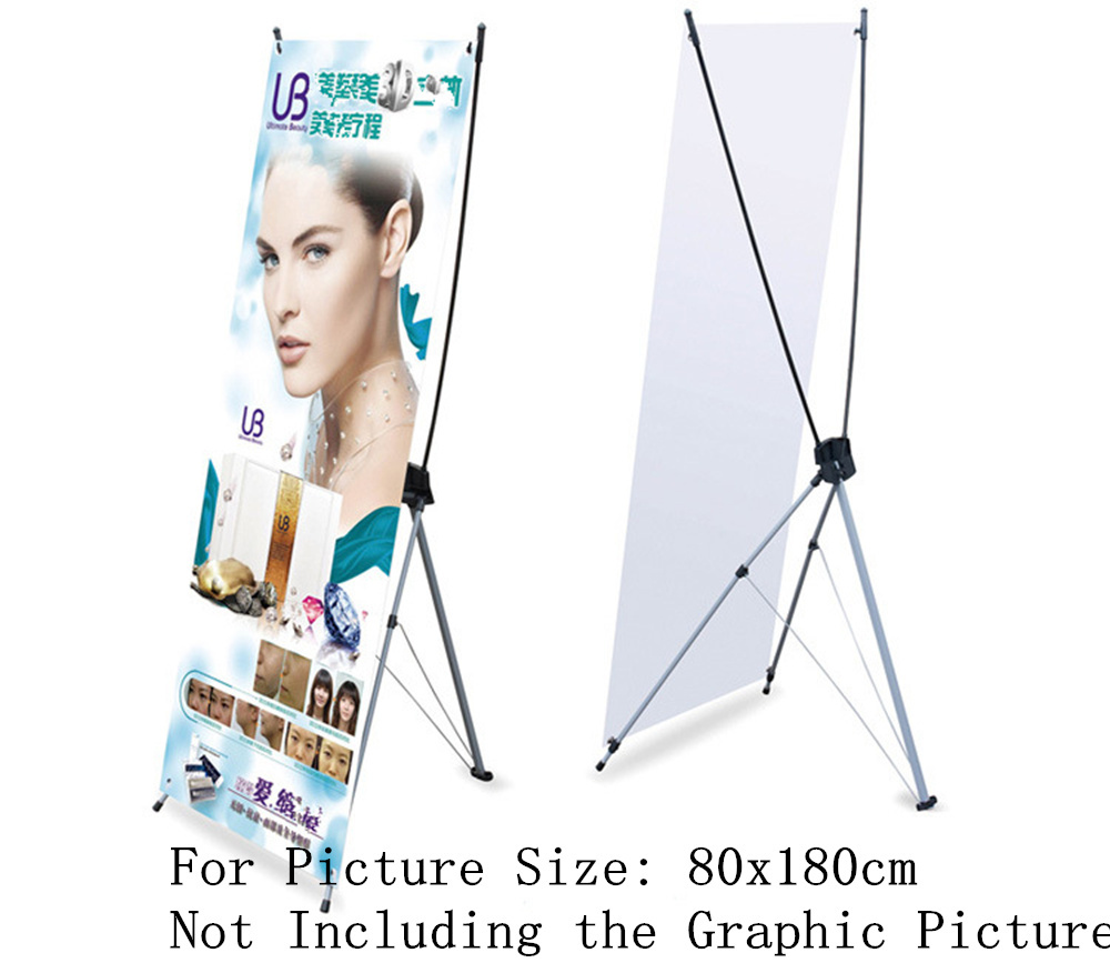 By Express 10pcs X Banner 80x 180cm Advertising Display Stand For Promotion Exhibition Trade Show Booth(Without Printing)(China (Mainland))