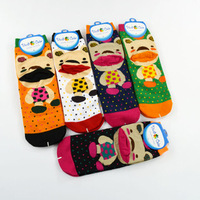 Cute Cotton Socks Wholesale Cartoon Big Mouth Bear Women's Girl's Socks 20pairs/lot