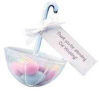 GAGA ! Free shipping WHITE umbrella wedding favour box , Transparent candy gift box , 100pcs/lot  lanlan 1-1