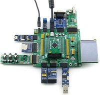 Open205R-C Package B # STM32F205 STM32 ARM Cortex-M3 Development Board STM32F205RBT6 + 2.2inch Touch LCD+11 Modules