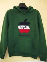 Men women couples hip hop hoodies Jobs apple embroidery sport pullover fleece thick casual sweatshirt jacket outerwear 4 colors