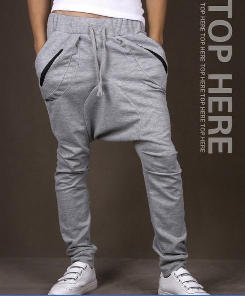 Harem Hip Hop Sweatpants with Zippers for Women