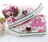 2014 spring women's hand painted canvas shoes confused baby high help with canvas shoes size 35-39