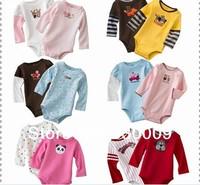 Hot Selling !!! 5pcs/lot Cartoon shape long sleeve coveralls baby Bodysuit 3-24M Free shipping