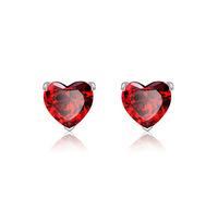 Elegant Women Stud Earrings Red heart earring Zircon earrings Free Shipping