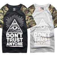 Summer 2014 man t-shirts Summer brand hip hop t-shirts skateboard sport men t shirt casual mens tees plus size  M/L/XL/XXL