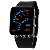 Digital led golw-watch waterproof jelly fashion lover watch HK air mail free shipping