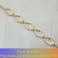 ISE3424 14K gold plated Filled zircon  Bracelet