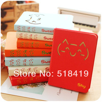 Hearts cat hard diary notepad korea stationery notebook