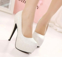 2014 fashion sexy utral high heels women pumps lace platform thin heels wedding shoes 14cm heels,retail