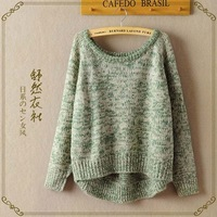New spring 2014 O-neck pullover  women sweater  loose  oversized sweater long-sleeve basic  hipster sweater
