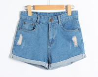 Women's High-Waist Denim Short Jeans 2014 Summer Fashion Designer Jeans