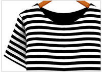 women's fashion new spring 2014 European Grand Prix round neck short sleeve fake two striped dress 3 colors 8186