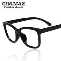 Gimmax colorful gradient color lens glasses frame male glasses fashion Women black eyeglasses frame