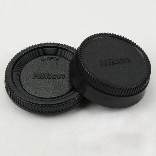 Camera Body cap + Rear Lens Cap for Nikon D3000 D3100 D3200 D5000 D5100 D80 D90 D300(China (Mainland))