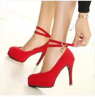 2014 new wedding shoes high-heels with diamond bracelet strap fine OL sexy waterproof single shoes for women's pumps tx1