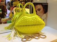 2014 Fashion stereo rivet tassel bag one shoulder handbag women's handbag bag messenger bag