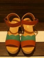 New 2014 Women's shoes sandals platform color block color block decoration