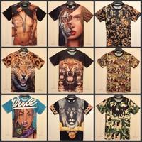 2014 summer men's 3D T shirt novelty Funny galaxy t shirt clothing women's  dress men 3d short sleeve hoodies top Free shipping