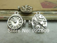 Free Shipping 20pcs 12*20mm antique silver Alloy mechanical watch core gear  diy accessories vintage Accessories Wholesale