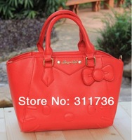 New 2014 Women Handbag Hello Kitty Shoulder Bag Handbags Tote Purse - Red