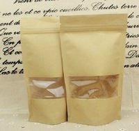 Free Shipping safe kraft Paper Cake Boxes,food bread pastry paper packaging Bags with window 100pcs/lot
